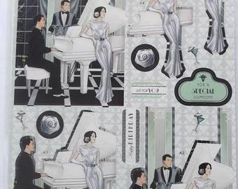 SCRAPBOOKING KIT - ART DECO 20s - papers and die - cut
