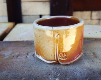 Wood fired Guinomi, Sake cup, Whiskey cup, ceramic cup, Porcelain cup,