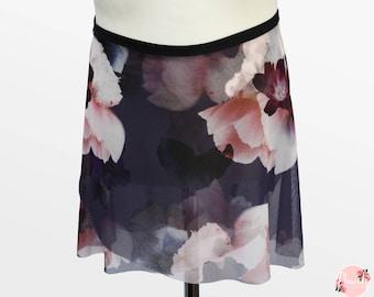 Evie - Ballet Wrap Skirt - Ballet Skirt - Dance Skirt - Floral Ballet Skirt - Flourish Dancewear
