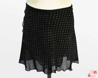 Luna - Ballet Wrap Skirt - Ballet Skirt - Dance Skirt - Sparkly Ballet Skirt - Flourish Dancewear