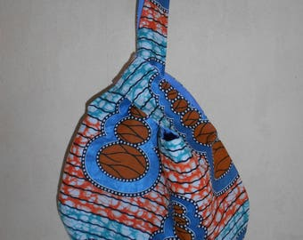 Japanese knot bag, African fabric
