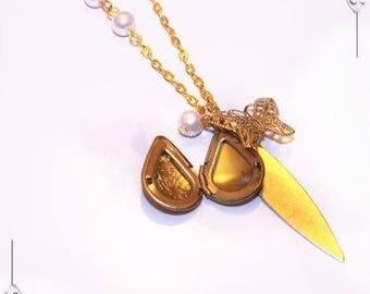 Locket Photo Pendant romantic Teardrop Locket necklace