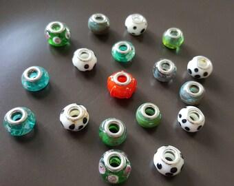 CLEARANCE - 18 European Lampwork beads handmade
