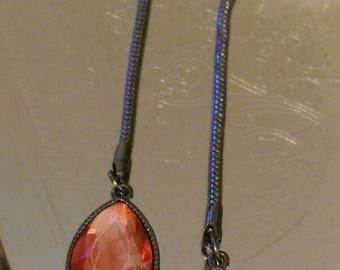 Red Jewel Dangle Earrings
