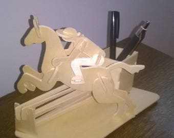 Plywood pen and pencil holder