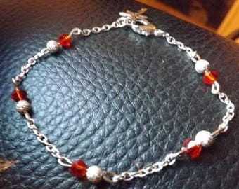 silver plated glowing with Dragonfly charm bracelet