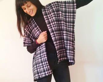 Wool Tartan cape