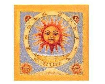 Sun decor napkin