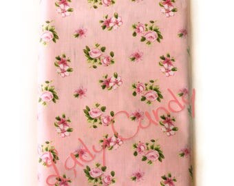 150 cm width Liberty style fabric / pink floral tones / sewing 150 x 50cm #7238