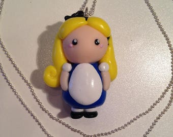 """Necklace fimo """"Little Lady Alice"""""""