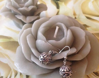 "Earrings ""Silver pearls"""