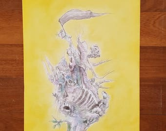 40x50cm Acrylic Painting - Mush