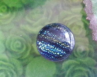 Round cabochons fused Dichroic, colorful, 14 x 6 mm glass dishes