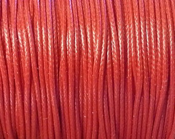 1 meter of lace polyester waxed thread, 1 mm in diameter