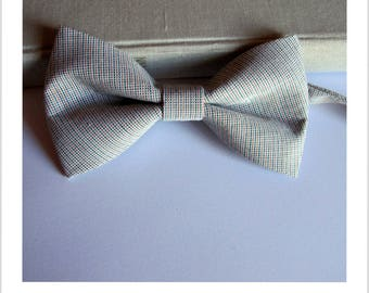 Bow tie green and Tan stripe