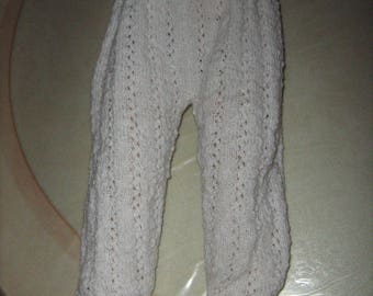 Hand knitted white froglet size 6 months