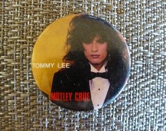 Vintage Tommy Lee MOTLEY CRUE 1985 Pinback Button