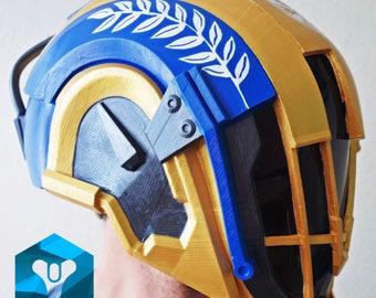 Painted and wearable Warlock's helmet Hood of Triumph