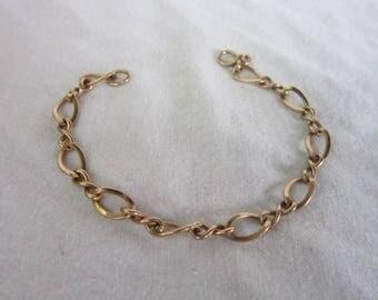 Vintage 14 K Solid Yellow Gold Charm Bracelet