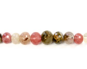 Stone Beads, Mixed Colored Stones, Quartz, Round Beads, Faceted, Natural Stone, DIY, BS171