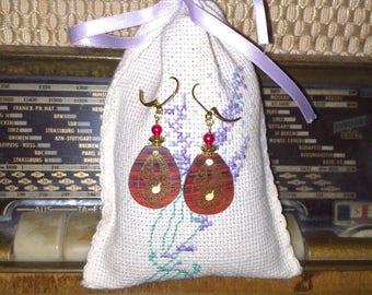 Cocobolo wood stud earrings