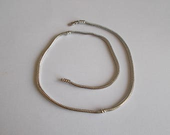 Snake chain 44 cm for big hole beads
