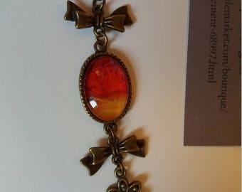Medium single bronze 13x18mm cabochon bracelet