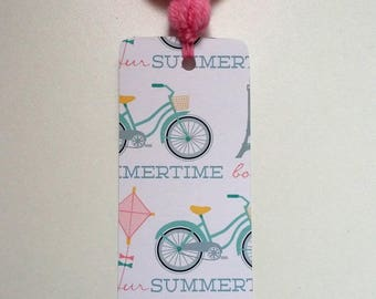 Bike tassel bookmark