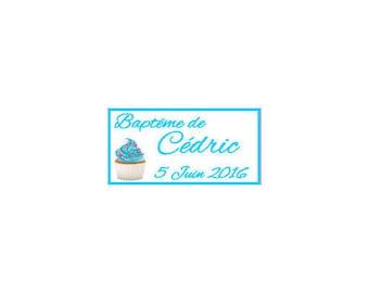 Christening/birth cupcake candy labels