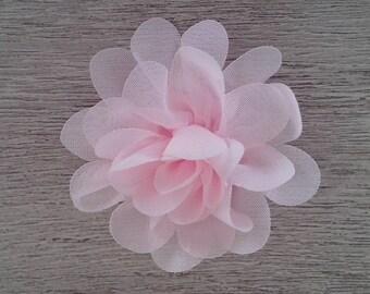 Pretty pale pink organza fabric flower