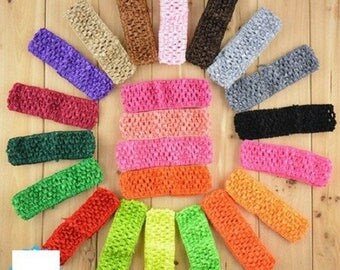 Multicolored crocheted hair bands