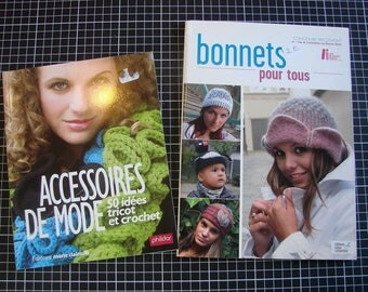 Set of 2 books - knitting - hats and accessories