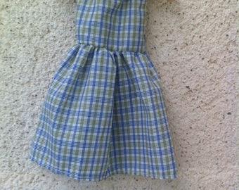 Dress and matching blue waistcoat