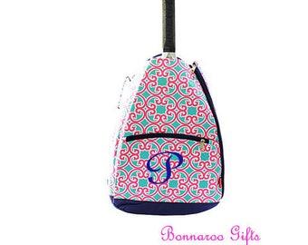 Tennis Racket backpack-tennis bag-Monogrammed tennis racket bag-personalized tennis racket backpack