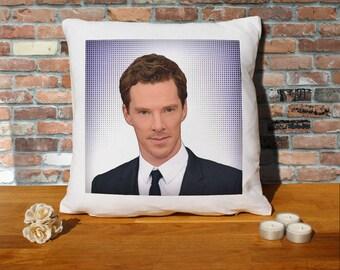 Benedict Cumberbatch Pillow Cushion - 16x16in - White