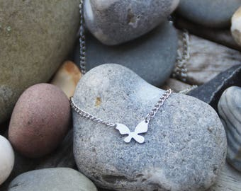 Silver Butterfly chain necklace