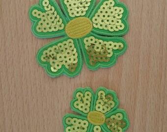 Flower textile Decoration sewing set of 2