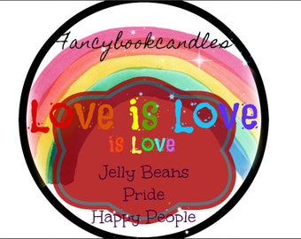 Love Is Love is Love-LGBTQ-soy candle-handmade