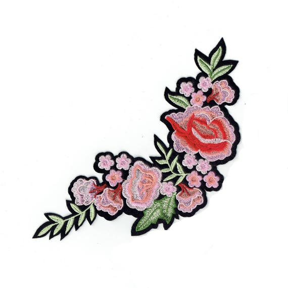 """LARGE Patch fusible pattern """"Flower"""""""