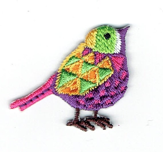 "Patch fusible trend pattern ""bird"""