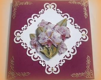 59 - Purple flowers tree greeting card