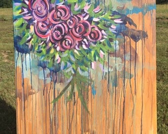 Grape Rose- Original Painting