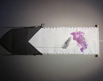 Purple poppy cross-stitched band