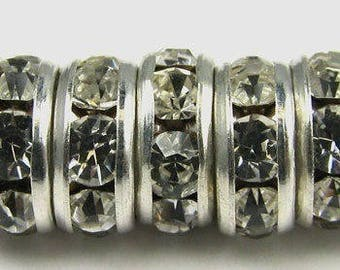 Swarovski round (6mm) quality silver plated spacer bead has