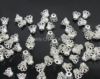 SET of 20 beads FILIGREE bead caps