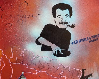 street art George Brassens painting