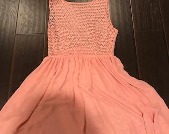 Peach American Apparel Dress