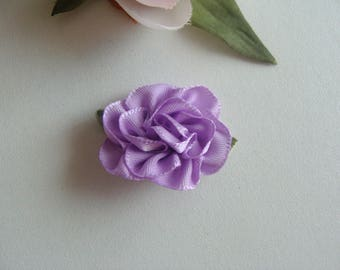 Purple 3 * 2 cm fabric flower applique