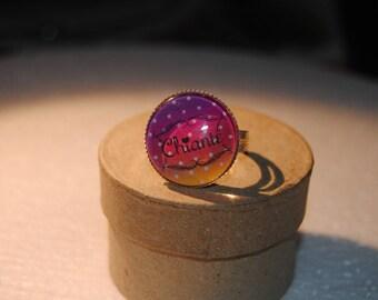 Boring cabochon ring