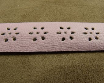 Pink leatherette Ribbon - 2 CM